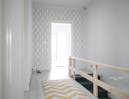 KENITRA – Malowany marokański wzór na ścianie w przedpokoju
