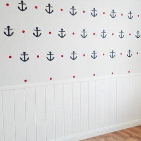 szablon kotwice marynarskie