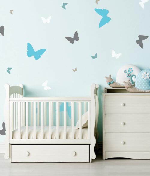 szablon motyle na ścianę